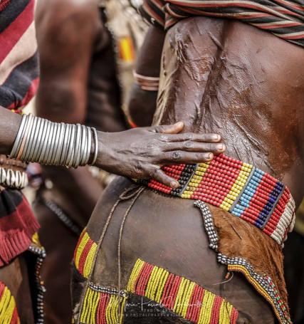 BULL jump festival at Hamer tribe in Ethiopia