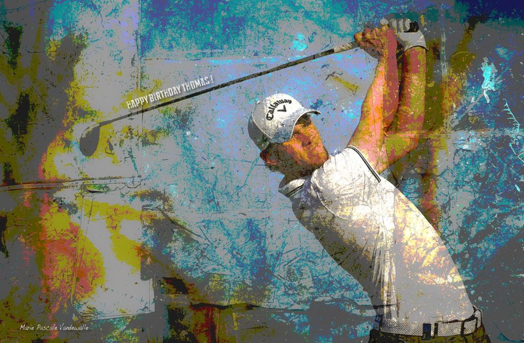 Happy Birthday to Rydercup star THOMAS PIETERS ! Photo Golf Art by Marie Pascale Vandewalle. Want a custom photo art for yourself, to surprise a friend, for your business or as an extraordinary present to someone you love, I am here to create the perfect memory for you.