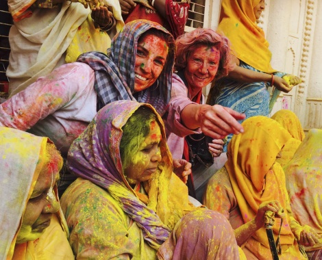 Holi at Mathura