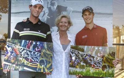 thomas pieters and thomas detry happy with their customized GOLF