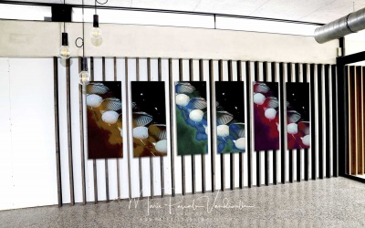 CUSTOMIZED PHOTO ART © marie pascale vandewalle GOLF ART - FOURSOME serie clubhouse © pascale vandewalle lowres-min-min