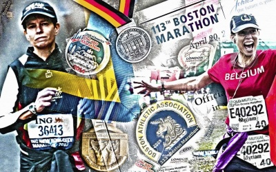 CUSTOMIZED PHOTO ART © marie pascale vandewalle MARATHON GRAND SLAM POWERGIRL lowres-min-min